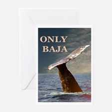 ONLY BAJA WILD SIDE WHALE Greeting Card