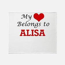 My heart belongs to Alisa Throw Blanket