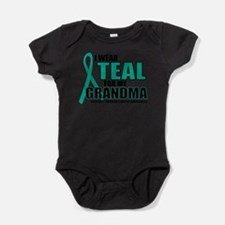 Cute I wear teal for my godmother Baby Bodysuit