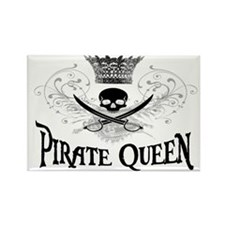 White Pirate Queen Rectangle Magnet