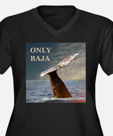 ONLY BAJA WILD SIDE WHALE Women's Plus Size V-Neck