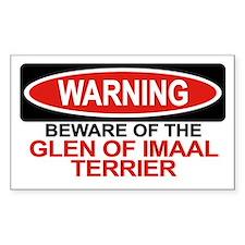 GLEN OF IMAAL TERRIER Rectangle Decal