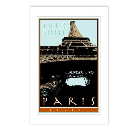 Paris, Eiffel Tower Postcards (Package of 8)