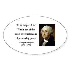 George Washington 15 Oval Decal