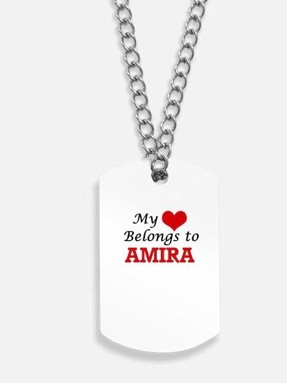 My heart belongs to Amira Dog Tags