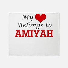 My heart belongs to Amiyah Throw Blanket
