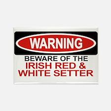 IRISH RED WHITE SETTER Rectangle Magnet (10 pack)