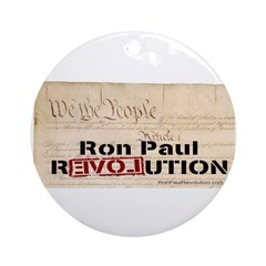 Ron Paul Preamble-C Pendant/Ornament (Round)