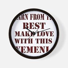 Make love with this Yemeni Wall Clock