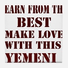 Make love with this Yemeni Tile Coaster