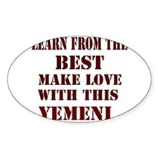 Make love with this Yemeni Oval Decal