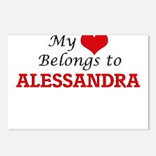 My heart belongs to Aless Postcards (Package of 8)