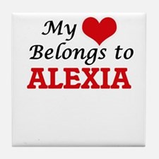 My heart belongs to Alexia Tile Coaster