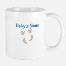 Babys Name and Baby Hands and Feet Mugs