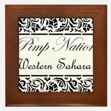 Cute Western sahara Framed Tile