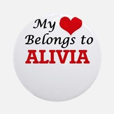 My heart belongs to Alivia Round Ornament
