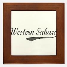 Western Sahara flanger Framed Tile