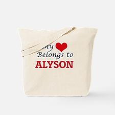 My heart belongs to Alyson Tote Bag