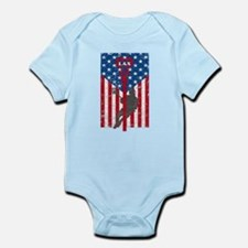 American Flag Red White and Blue LAX Lac Body Suit