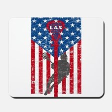 American Flag Red White and Blue LAX Lac Mousepad