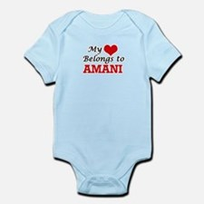 My heart belongs to Amani Body Suit