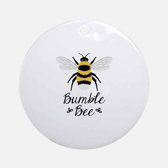 Bumble Bee Round Ornament