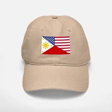 Half Philippines Half American Flag Baseball Baseball Baseball Cap