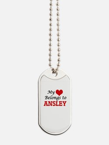My heart belongs to Ansley Dog Tags