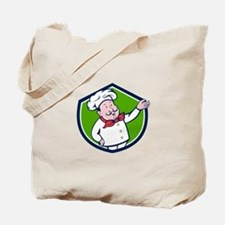 French Chef Welcome Greeting Crest Cartoon Tote Ba