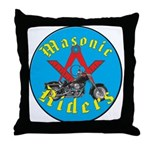 Masons who ride Throw Pillow