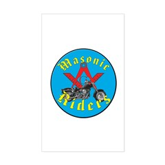 Masons who ride Rectangle Decal