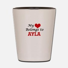 My heart belongs to Ayla Shot Glass