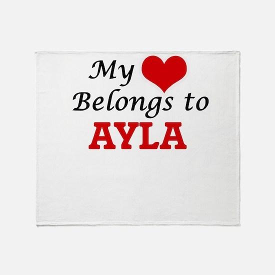 My heart belongs to Ayla Throw Blanket