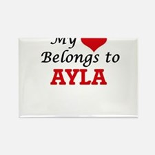 My heart belongs to Ayla Magnets