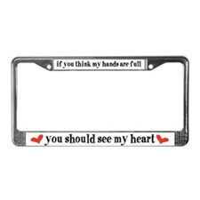 Cute Family License Plate Frame