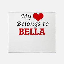 My heart belongs to Bella Throw Blanket