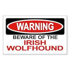 IRISH WOLFHOUND Rectangle Decal