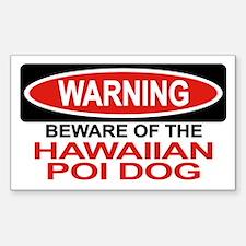 HAWAIIAN POI DOG Rectangle Decal