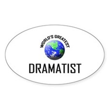 World's Greatest DRAMATIST Oval Decal