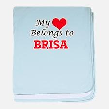 My heart belongs to Brisa baby blanket