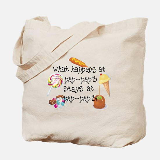 What Happens at Pap Pap's STAYS at Pap Pap's! Tote