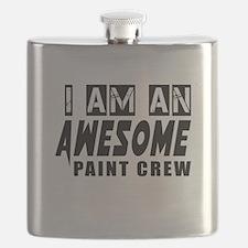 I Am Paint Crew Flask