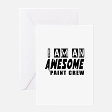 I Am Paint Crew Greeting Card