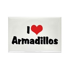 I Love Armadillos Rectangle Magnet (10 pack)