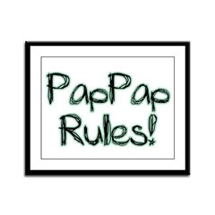 PapPap Rules! Framed Panel Print