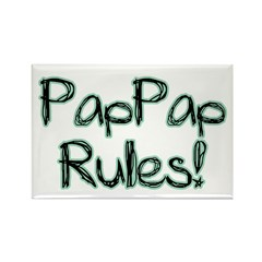 PapPap Rules! Rectangle Magnet
