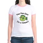 Pap Pap Says I'm a Keeper! Jr. Ringer T-Shirt