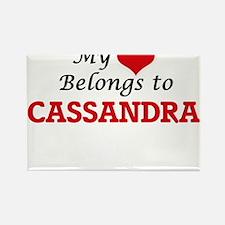 My heart belongs to Cassandra Magnets