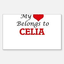 My heart belongs to Celia Bumper Stickers