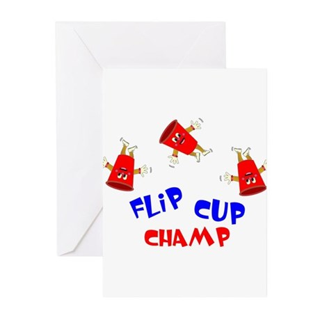 Flip Cup Champ Greeting Cards (Pk of 20)